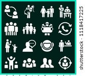 set of 16 people filled icons... | Shutterstock .eps vector #1118417225