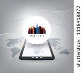 colorful smart city  cloud... | Shutterstock .eps vector #1118418872