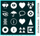 set of 16 shapes filled icons... | Shutterstock .eps vector #1118419106