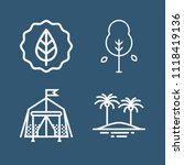 set of 4 nature outline icons... | Shutterstock .eps vector #1118419136