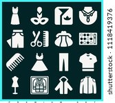 set of 16 fashion filled icons... | Shutterstock .eps vector #1118419376