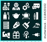 set of 16 other filled icons... | Shutterstock .eps vector #1118420102