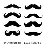 Set Of Moustaches Sticker. Han...