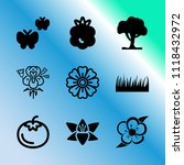 vector icon set about gardening ... | Shutterstock .eps vector #1118432972