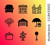 vector icon set about home with ... | Shutterstock .eps vector #1118433002