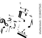 musical notes on white... | Shutterstock .eps vector #1118437565