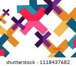 multicolored abstract geometric ... | Shutterstock .eps vector #1118437682
