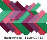 multicolored abstract geometric ... | Shutterstock .eps vector #1118437712