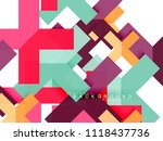 multicolored abstract geometric ... | Shutterstock .eps vector #1118437736