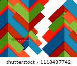 multicolored abstract geometric ... | Shutterstock .eps vector #1118437742