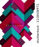 multicolored abstract geometric ... | Shutterstock .eps vector #1118438972