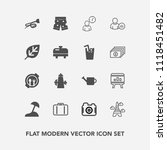 modern  simple vector icon set... | Shutterstock .eps vector #1118451482