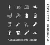 modern  simple vector icon set... | Shutterstock .eps vector #1118451515