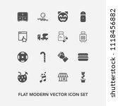 modern  simple vector icon set... | Shutterstock .eps vector #1118456882
