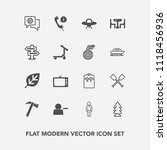 modern  simple vector icon set... | Shutterstock .eps vector #1118456936