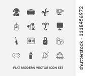 modern  simple vector icon set... | Shutterstock .eps vector #1118456972