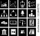 vector illustration of icons on ... | Shutterstock .eps vector #111845792