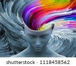 Brain Swirl. 3d Illustration Of ...
