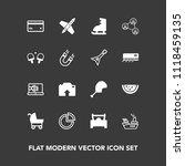 modern  simple vector icon set... | Shutterstock .eps vector #1118459135