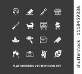 modern  simple vector icon set... | Shutterstock .eps vector #1118459336