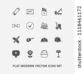 modern  simple vector icon set... | Shutterstock .eps vector #1118461172