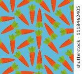 fresh carrots pattern background | Shutterstock .eps vector #1118462405