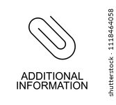 additional information line... | Shutterstock . vector #1118464058