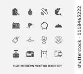 modern  simple vector icon set... | Shutterstock .eps vector #1118465222