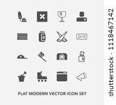 modern  simple vector icon set... | Shutterstock .eps vector #1118467142
