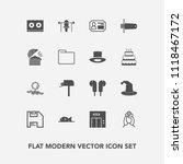 modern  simple vector icon set... | Shutterstock .eps vector #1118467172