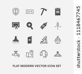 modern  simple vector icon set... | Shutterstock .eps vector #1118467745