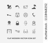 modern  simple vector icon set... | Shutterstock .eps vector #1118468252