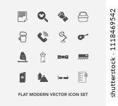modern  simple vector icon set... | Shutterstock .eps vector #1118469542