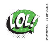 abbreviation lol   laugh out... | Shutterstock .eps vector #1118470316