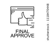 final approve icon. element of...