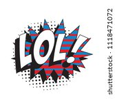 abbreviation lol   laugh out... | Shutterstock .eps vector #1118471072