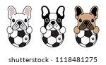 french bulldog vector dog... | Shutterstock .eps vector #1118481275