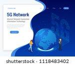 isometric 5g network wireless... | Shutterstock .eps vector #1118483402