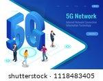 isometric 5g network wireless... | Shutterstock .eps vector #1118483405