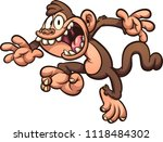 screaming and jumping cartoon... | Shutterstock .eps vector #1118484302