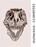 graphical vintage skull of... | Shutterstock .eps vector #1118485592