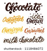 chocolate and caramel hand... | Shutterstock .eps vector #1118486072