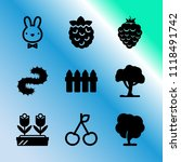 vector icon set about gardening ... | Shutterstock .eps vector #1118491742