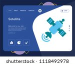 quality one page satellite... | Shutterstock .eps vector #1118492978