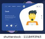quality one page geek website...   Shutterstock .eps vector #1118493965