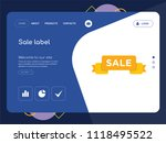 quality one page sale label... | Shutterstock .eps vector #1118495522