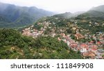 aerial view of sapa city nested ... | Shutterstock . vector #111849908