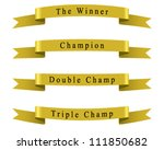 winner champion ribbon set... | Shutterstock .eps vector #111850682