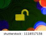 neon yellow unlock icon on the...