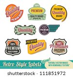vintage retro labels   editable ... | Shutterstock .eps vector #111851972
